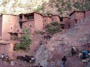 a berber village along the road