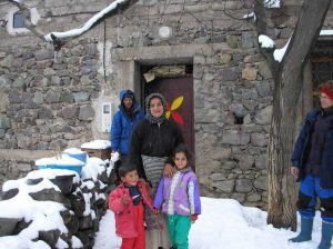berber family in the snow