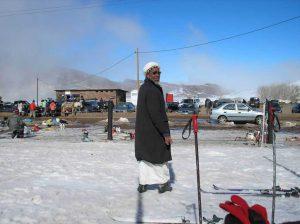 berber in the snow