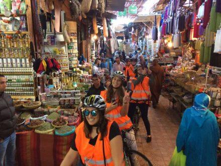 biking in marrakech the souks