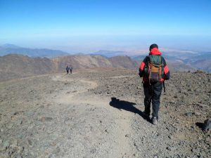 hiking on the toubkal summit
