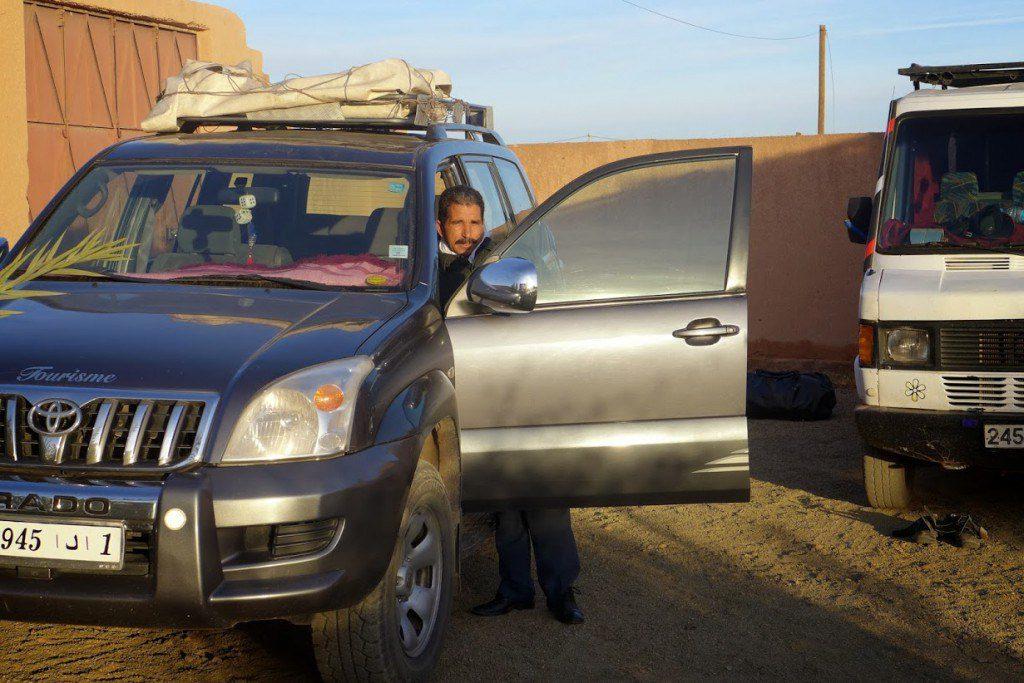 Jeep tournée vers le Sud
