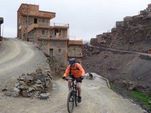 mountain bike in a berber village