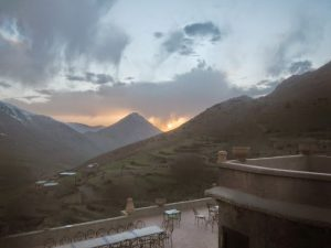 sunset in the high atlas
