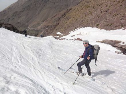 tour ski in the high atlas