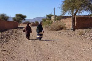 women walking in the great south of morocco